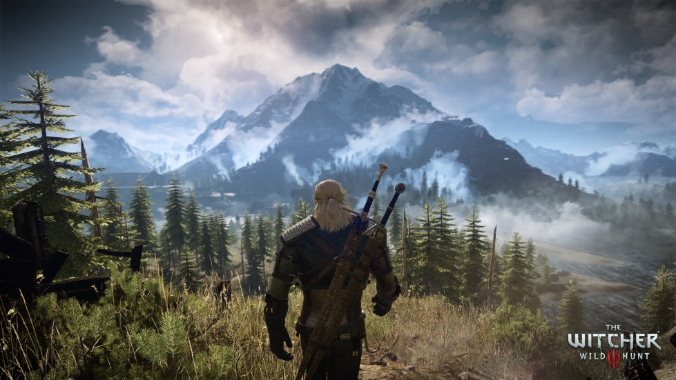 The Witcher 3: Wild Hunt screenshot of environment with Geralt in centre frame